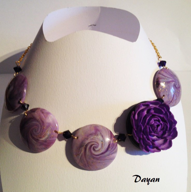 Collana con fiore Violetta