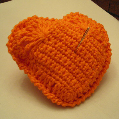 Portaspilli di cotone con imbottitura a forma di cuore