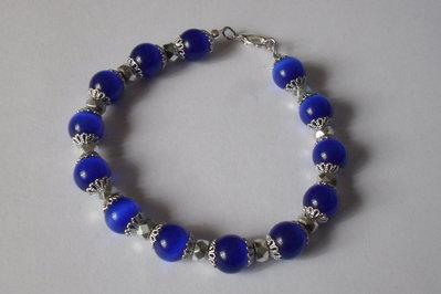 Bracciale semi rigido blu