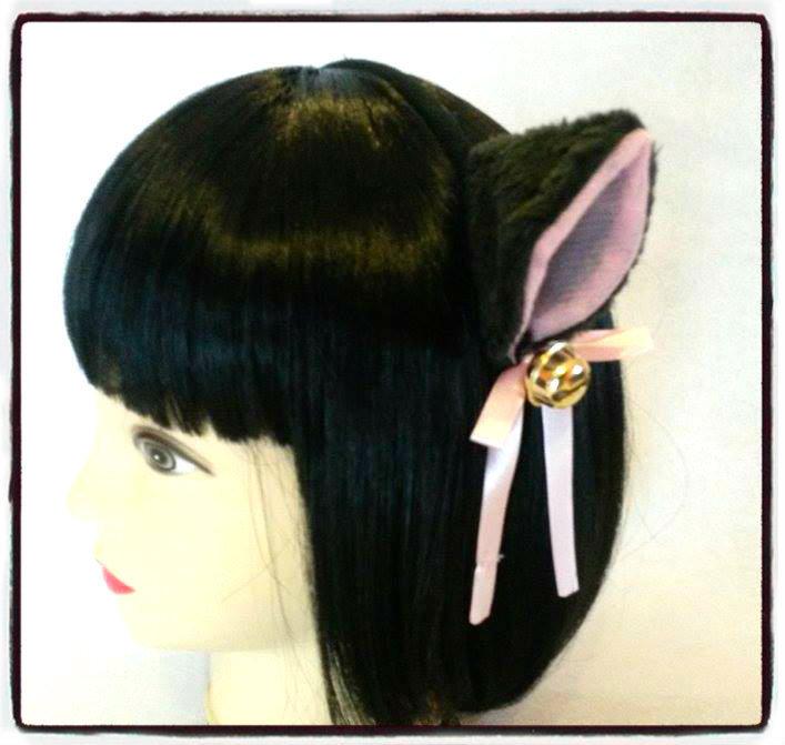 Cerchietto con orecchie da gatto nere - Neko Cosplay