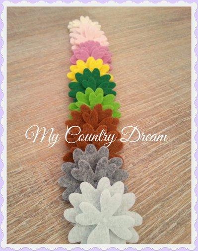 Set fiori fustellati