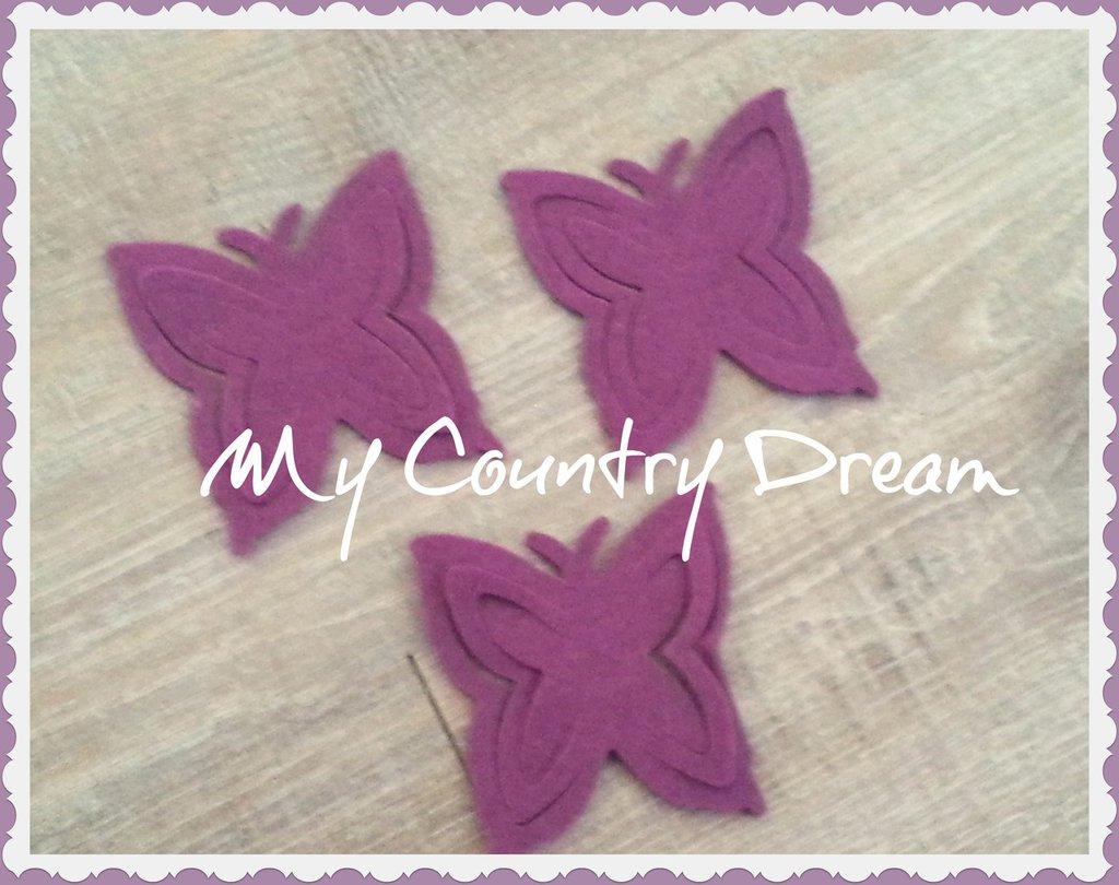 Set 3 farfalle fustellate