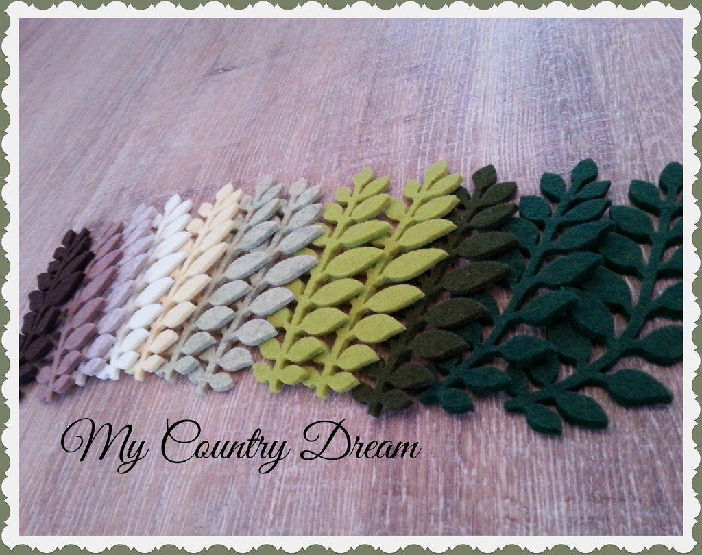 Set foglie fustellate