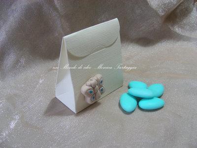 scatolina portaconfetti con farfalla maschietto