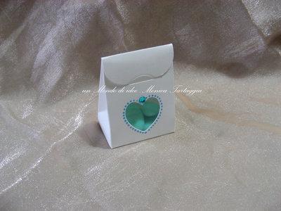 scatolina portaconfetti cuore maschietto