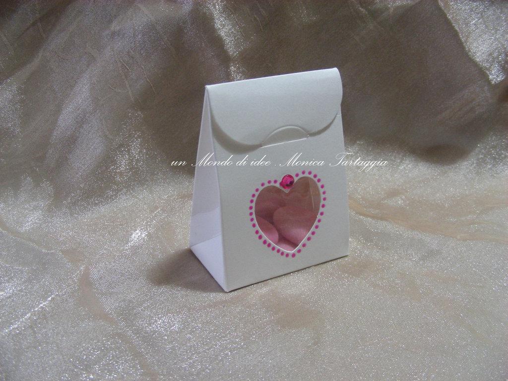 scatolina portaconfetti cuore femminuccia