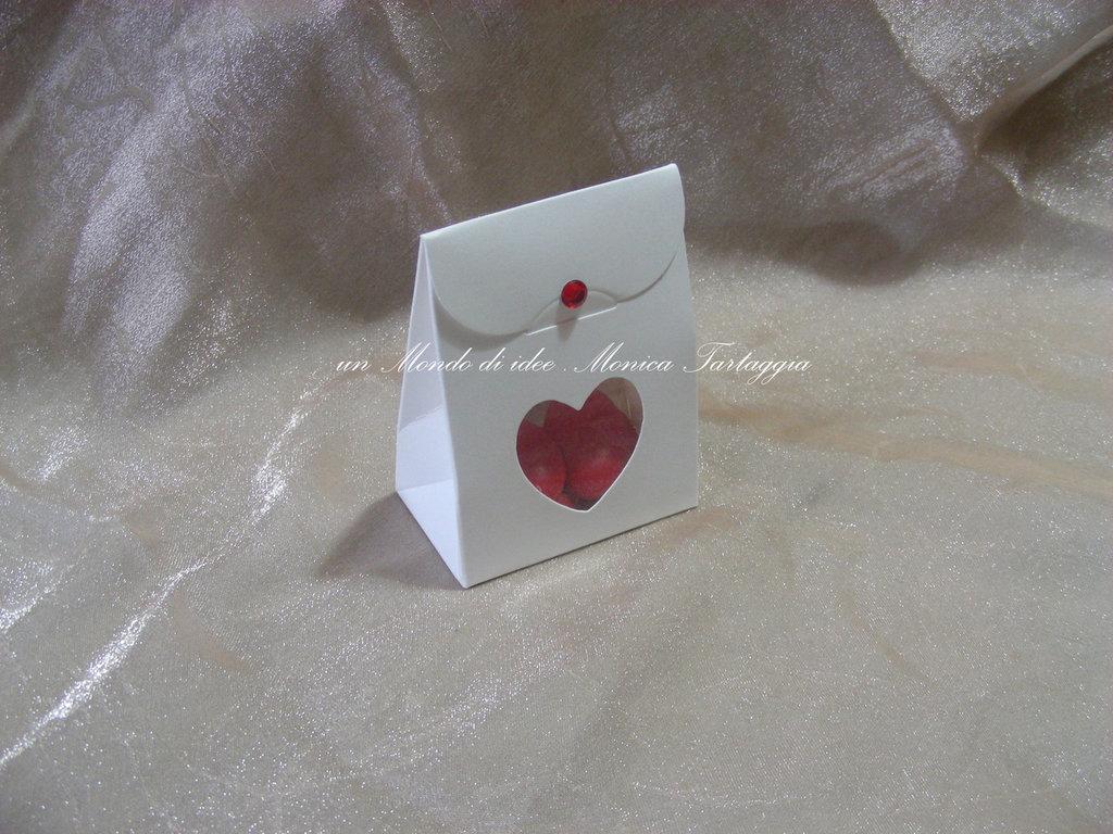 scatolina portaconfetti cuore laurea
