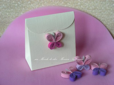 scatolina portaconfetti farfallina rosa