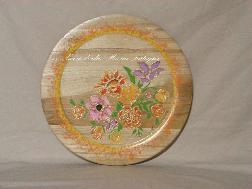piatto/vassoio in legno