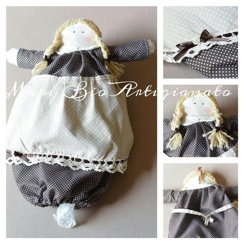 Bambolina porta sacchetti per cucina feste idee regalo - Porta sacchetti ...