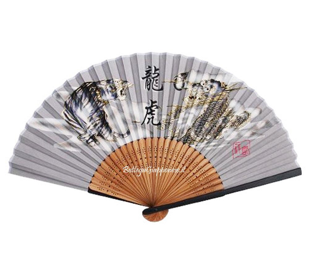 Sensu ventaglio giapponese Tora seta