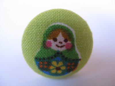 Anello stoffa - Matrioska verde