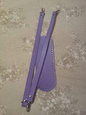 Kit fondo + manici ecopelle lilla
