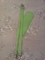 Kit fondo + manici ecopelle verdino