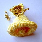 Campanella Pasquale amigurumi, fatta a mano all'uncinetto