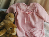 vestitino in lana rosa confetto