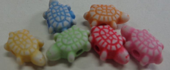 54 Perline Tartaruga in acrilico