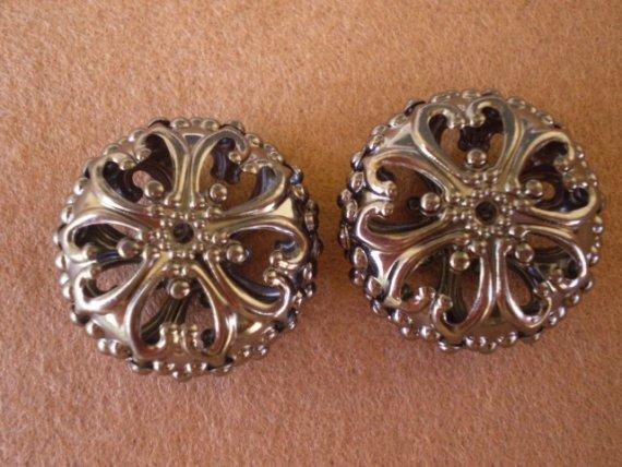 6 Perline In Metallo Filigrana