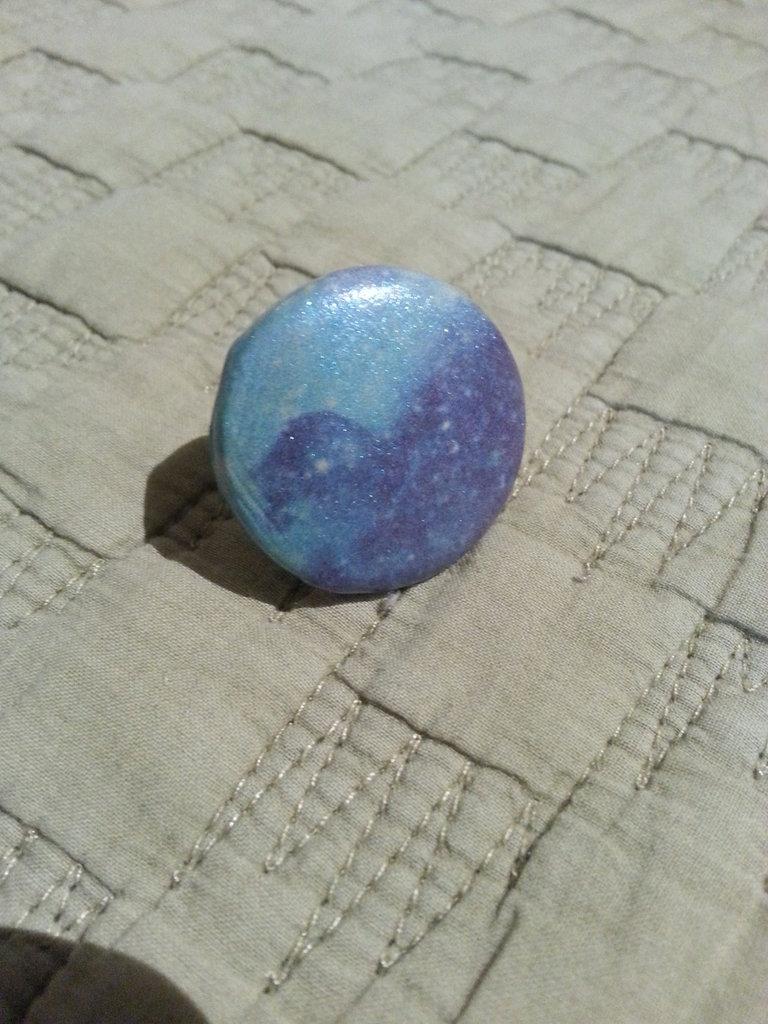 Anello shiny space azzurro