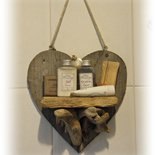 MENSOLINA decorativa con legni di mare fatta a mano