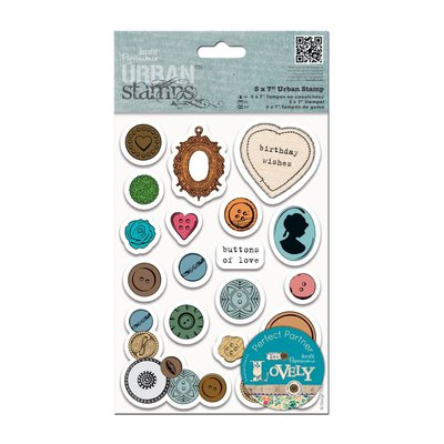 Urban Stamps - Mixed Buttons