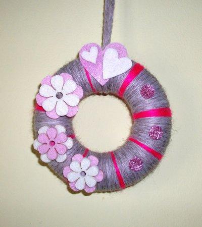 Ghirlanda Decorativa Fuoriporta o da Parete - PinkFlowers^^