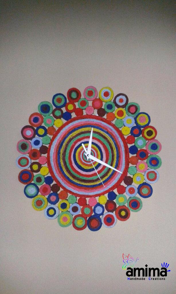 Top Orologio da parete realizzato con carta riciclata - Per la casa e  NN96