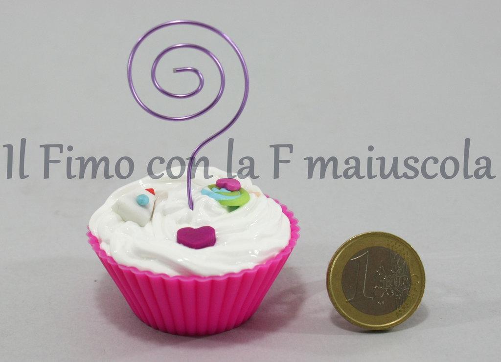 Portafoto muffin in silicone e fimo