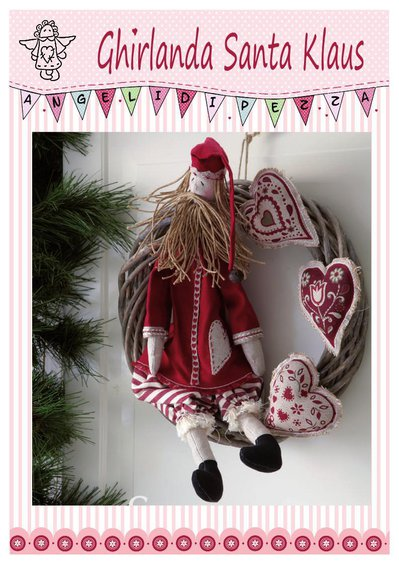 Cartamodello Ghirlanda Santa Klaus