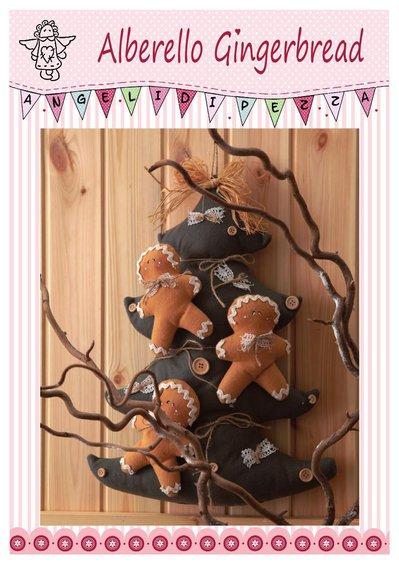 Cartamodello Alberello Gingerbread