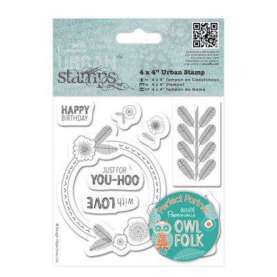 Urban Stamps - Owl Folk Sentiments