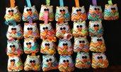 Portachiavi gufo colorati bomboniere battesimo