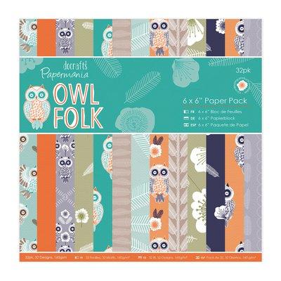 Blocco di carta 15x15 cm - Owl Folk