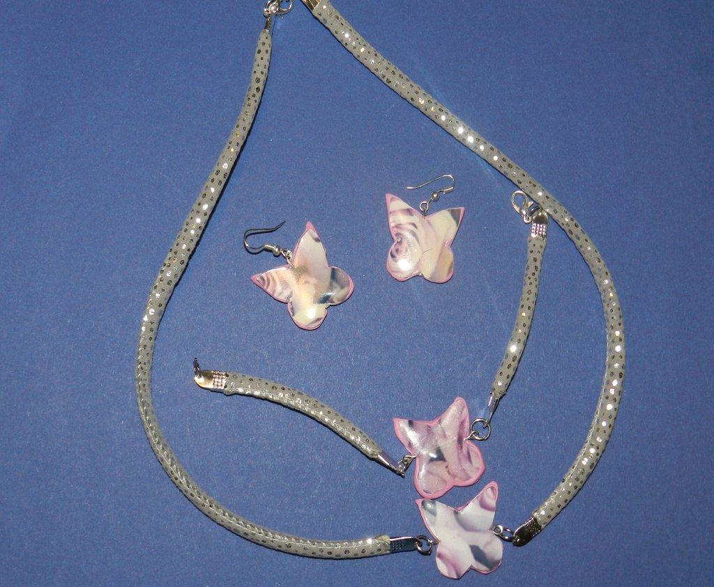 Parure farfalle in fiore