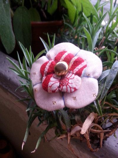 Spilla doppio fiore Ume