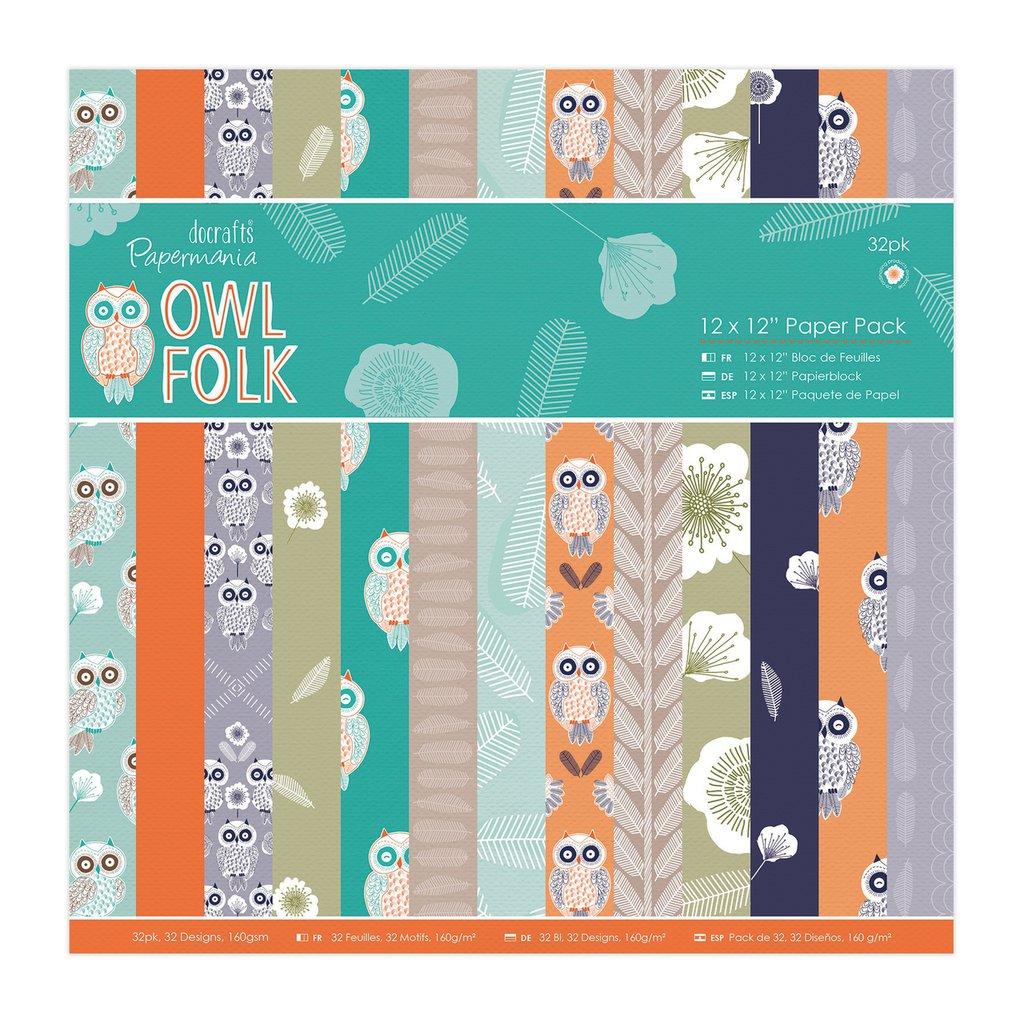 Blocco di carta 30x30 cm - Owl Folk