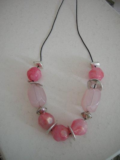 Collana Pink con cordino