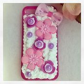 Cover KAWAII deco den per iPhone 5 con panna e cabochones