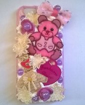 Cover KAWAII deco den per iPhone 6 con panna e cabochones