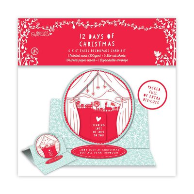 Decoupage Card Kit - 12 Days of Christmas