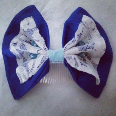 accessori per capelli: fiocco con pettine