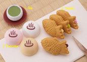 Gommine japan sweet set (8pz) made in japan