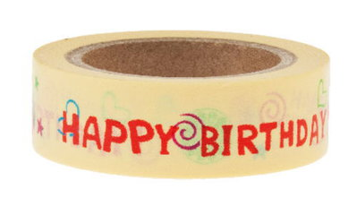 Washi Tape - Birthday