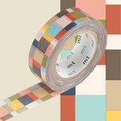 Washi Tape - Mosaic Greyish