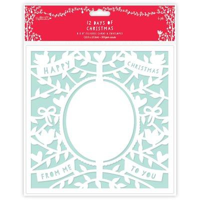 Set 6 cards e buste - 12 Days of Christmas