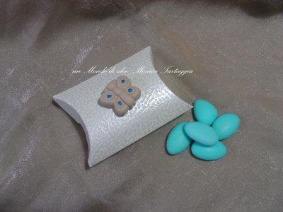 scatolina portaconfetti a busta farfalla maschietto