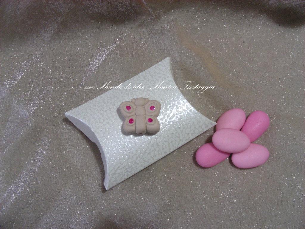 scatolina portaconfetti a busta farfalla femminuccia