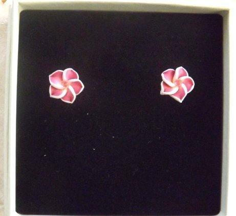 Orecchini a forma di fiore in fimo con cristallo swarovski idea regalo per lei