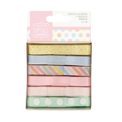 Set 6 nastri - Spots & Stripes Pastels
