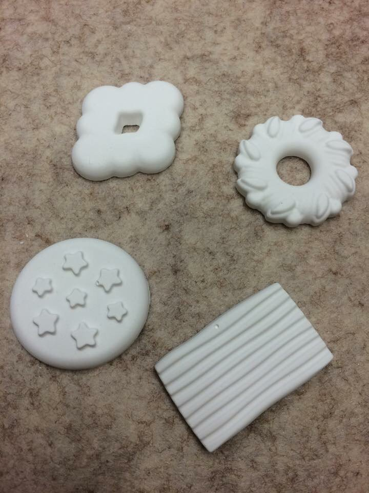 Gessetti a forma di biscotti
